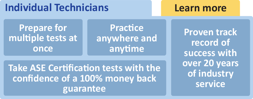 ase certification technicians tests pass students assessment tools diagnostic skills classroom learning own perfect